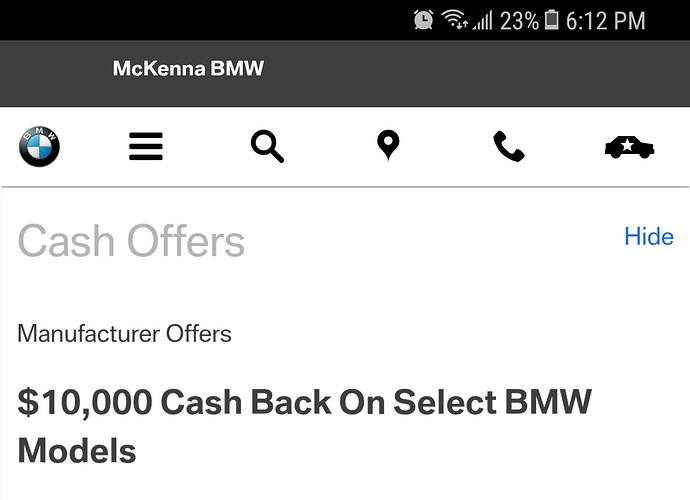 What Does 10000 Cash Back Mean For The I3 Ask The Hackrs