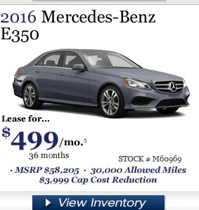 Mercedes e350 lease prices paid