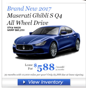 2017 Maserati Ghibli SQ4 Lease - Ask the Hackrs - Leasehackr Forum