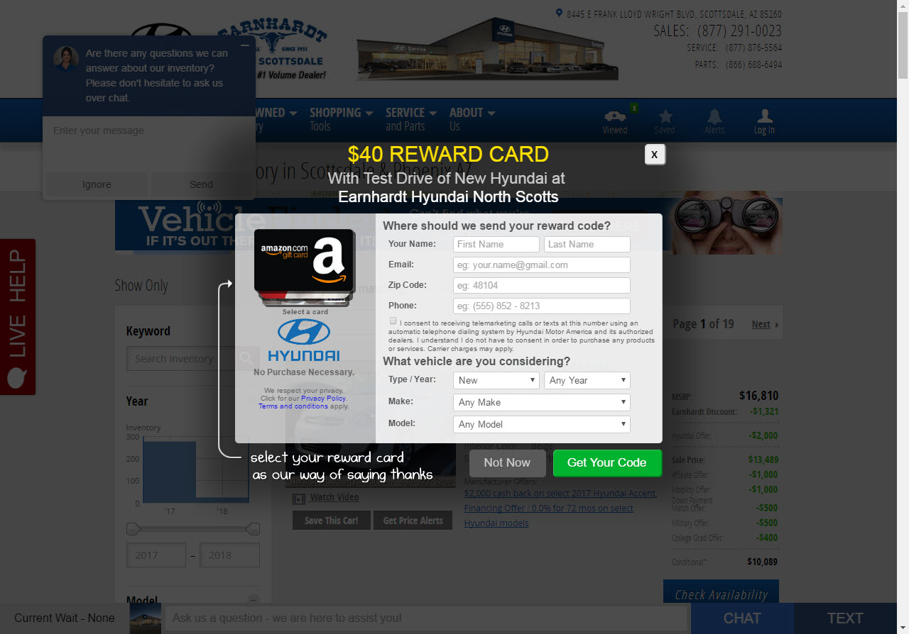 $50 Gift Card for Hyundai Test Drive - Share Deals & Tips ...