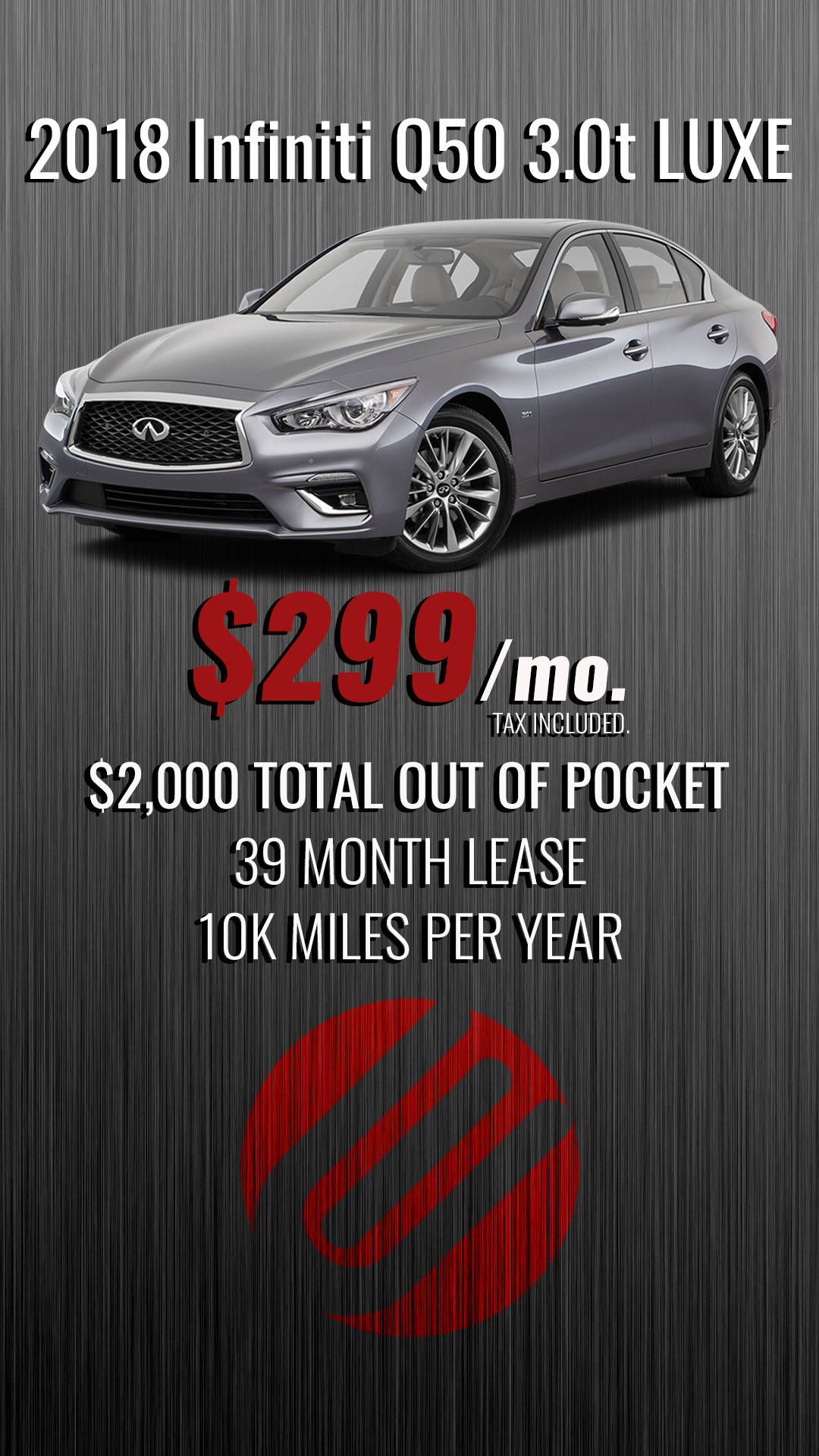 0d462caf27 2018 Infiniti Q50 3.0t LUXE - SoCal -  299 Payment Including Tax + ...