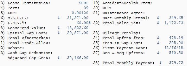 Lease Money Factor >> 2019 Subaru Crosstrek 2 0i Limited Great Residual Poor