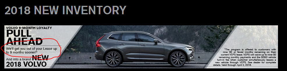 Volvo XC90 and 9 month Lease Pull Ahead - Seattle - Ask the