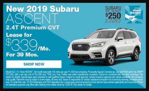 Lease Deals Near Me >> 2019 Subaru Ascent Premium lease promotion (is this a good deal?) - Ask the Hackrs - Leasehackr ...