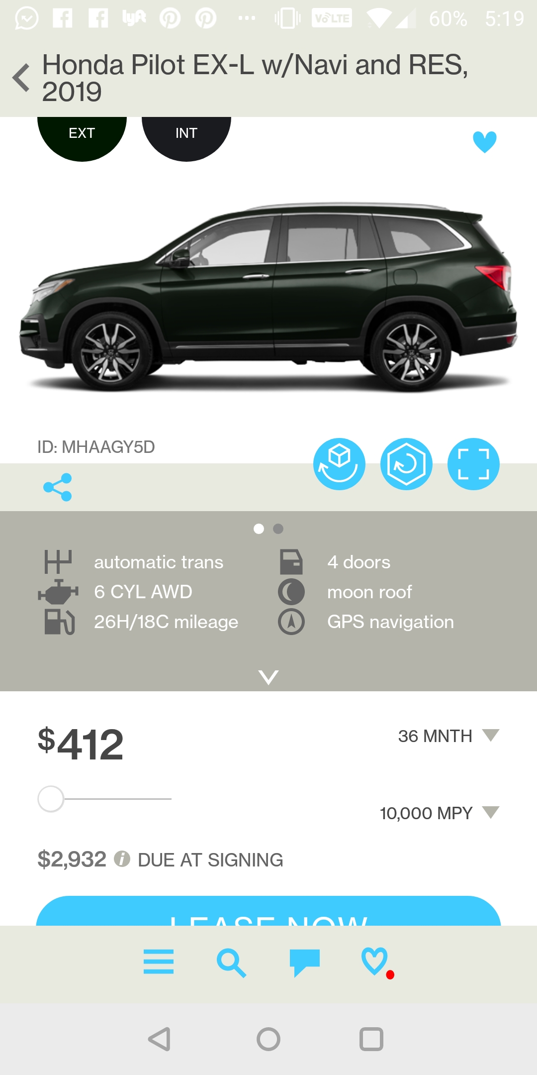 2019 Honda Pilot EXL - Ask the Hackrs - Leasehackr Forum