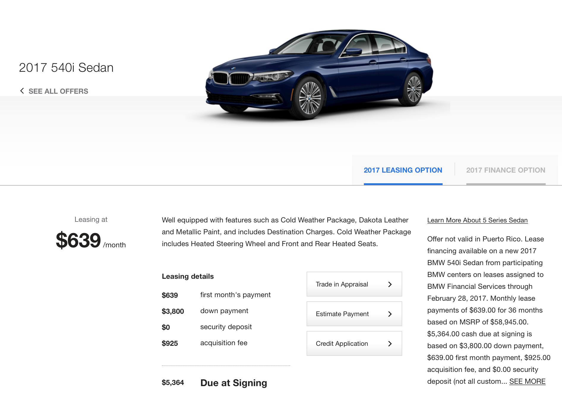 offers lease south bmw motors