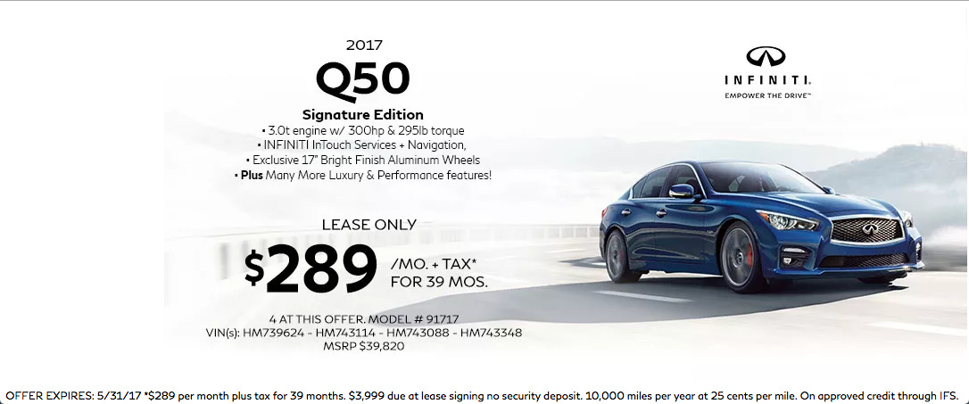 2017 infiniti q50 lease