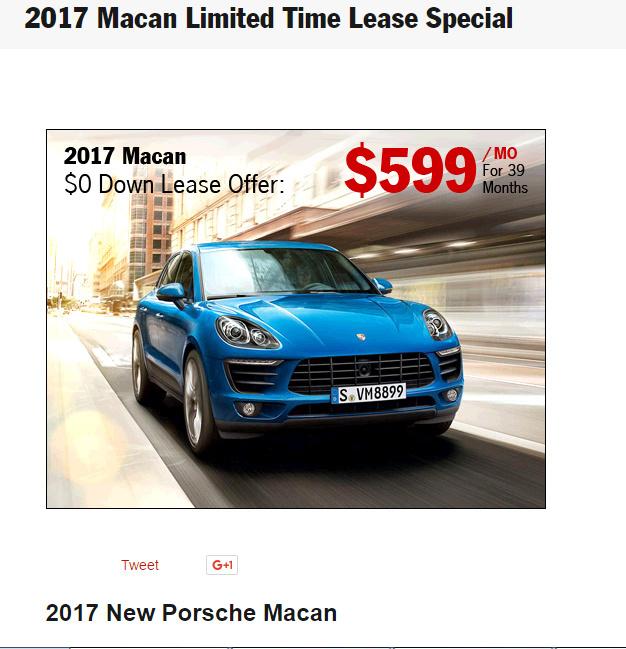 Porsche Macan Lease >> Porsche Macan S Lease Share Deals Tips Leasehackr Forum