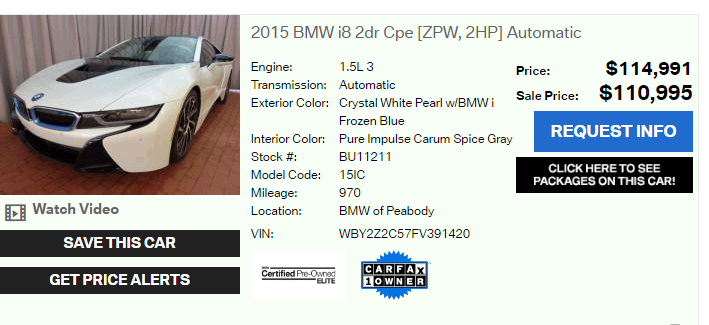 Lease Assumption On 2015 Bmw I8 Marketplace Leasehackr Forum