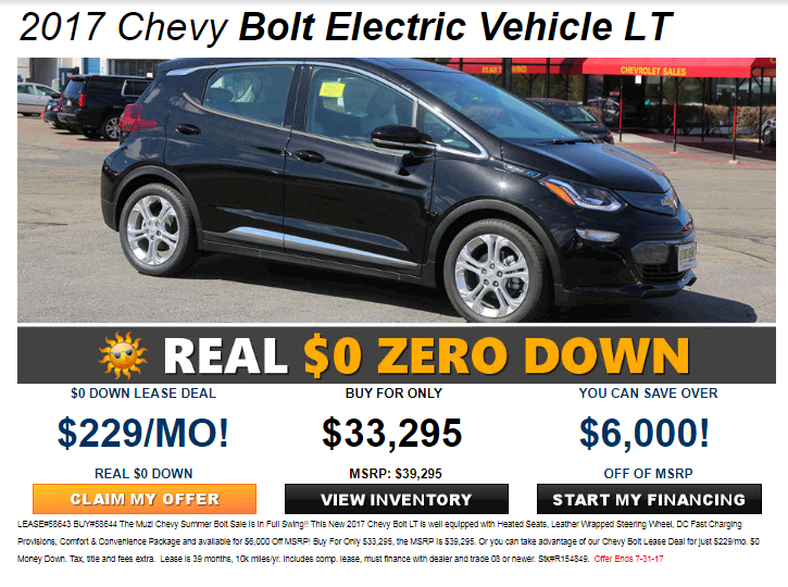 Chevrolet Lease Deals >> Chevy Bolt Ev Lease Should I Go For It Ask The Hackrs