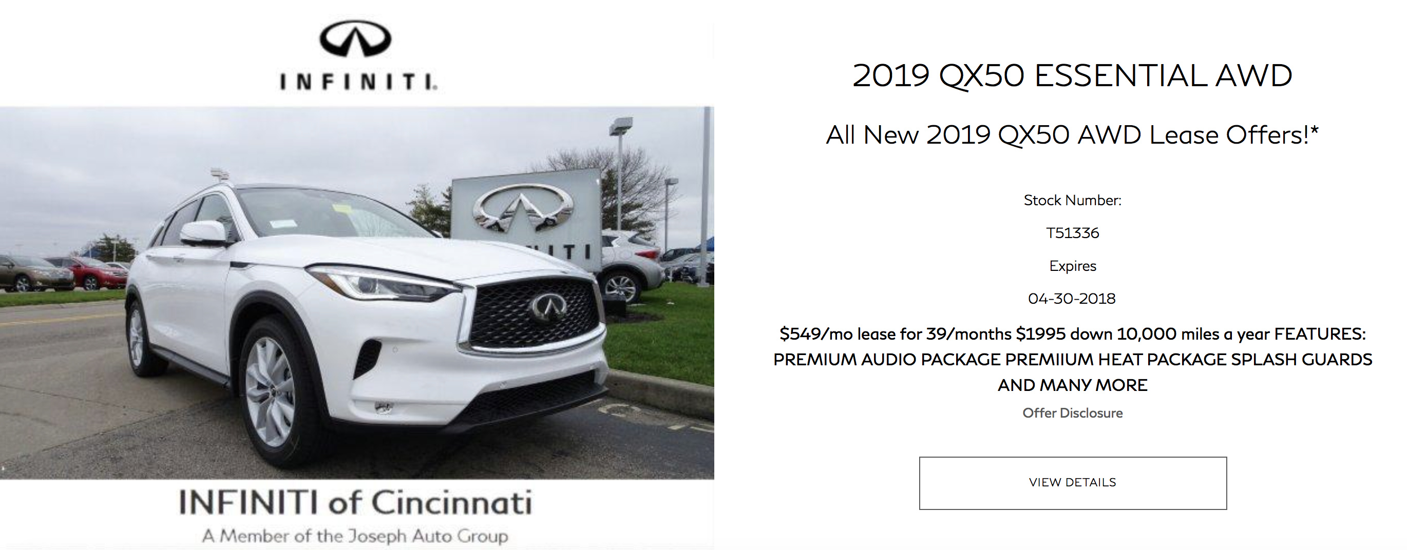 leasing infiniti payment select car infinity business lease deals
