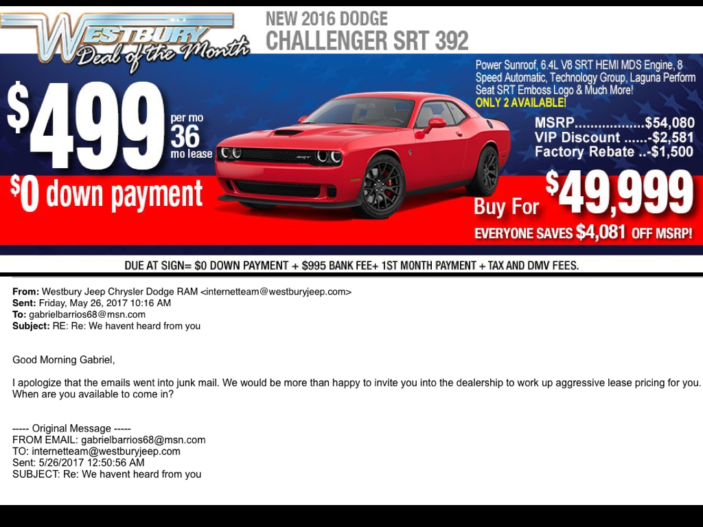 2016 Challenger Srt 392 Good Deal
