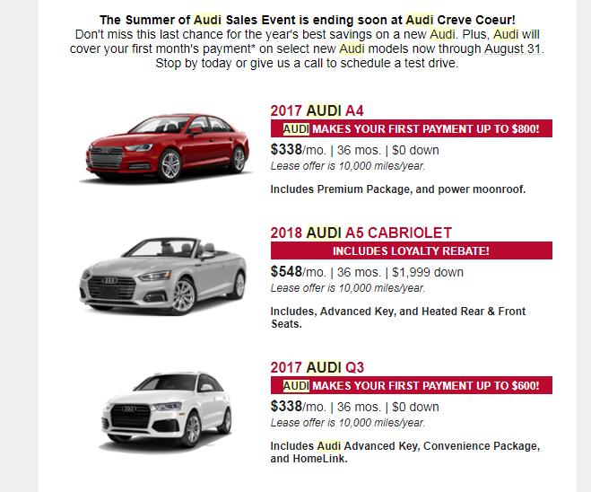 Audi MSD Program Ask The Hackrs Leasehackr Forum - Audi zero down lease